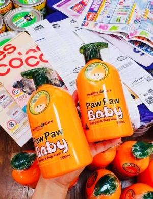 Sữa tắm gội Paw Paw Baby Healthy Care