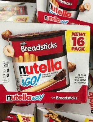 Thùng 16 hộp bánh que Nutella chấm socola