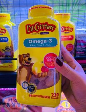 Kẹo dẻo Lil Critters bổ sung Omega 3 cho bé