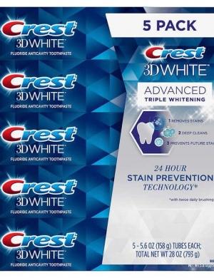 KEM ĐÁNH RĂNG CREST 3D WHITE - LỐC 5 PACK