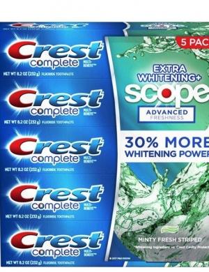 Set 5 hộp Kem đánh răng Crest complete 232g