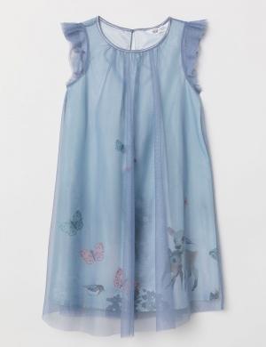 (H&M) Đầm Glittery Tulle bé gái nhập Mỹ